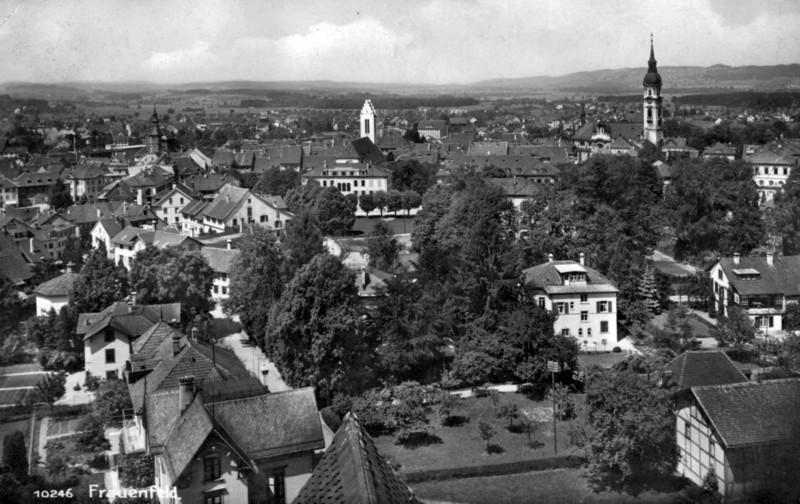 Frauenfeld Altstadt vom Kantiturm