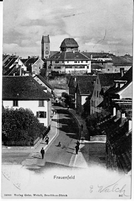 Frauenfeld Altstadt vom Kreuzplatz um 1900