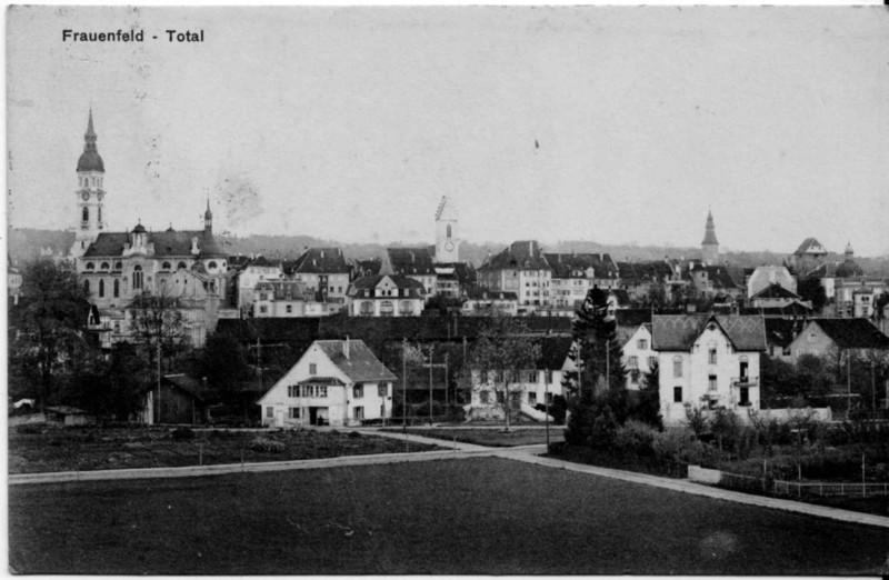 Frauenfeld Altstadt vom Kurzdorf her um 1915