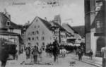 Frauenfeld Bärenplatz mit Reiterkolonne um 1905