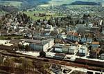 Frauenfeld Bahnhof Kaserne Altstadt Kantonsschule Flugaufnahme um 1980