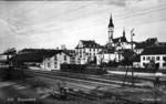Frauenfeld Bahnhof Merkur Hirschen Kirche um 1920