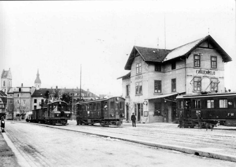 Frauenfeld Bahnhof Stadt um 1920
