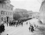 Frauenfeld Beerdigung Dekan Kuhn beim Zeughaus 1901
