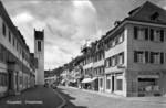 Frauenfeld Freiestrasse vom Bankplatz um 1955