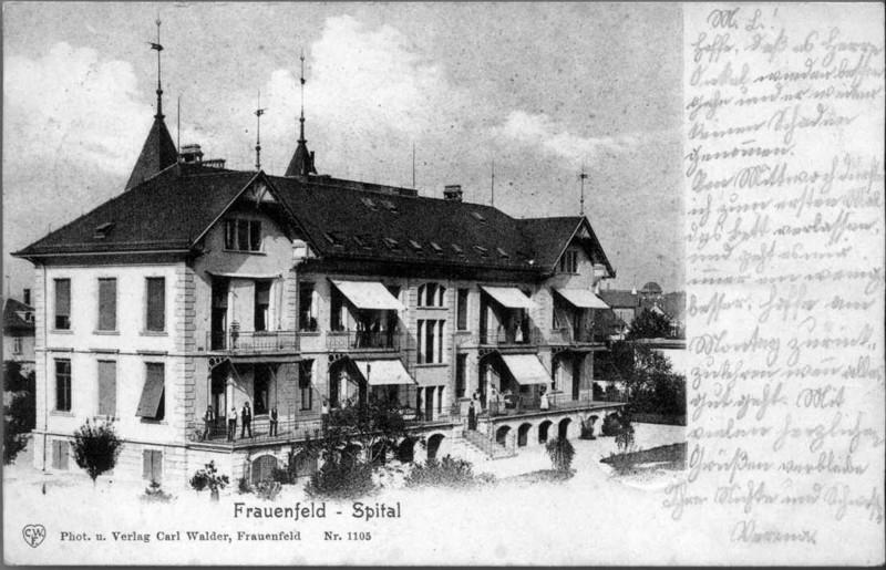 Frauenfeld altes Spital um 1900