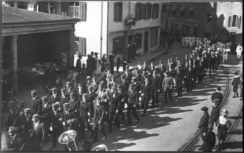 Concordia Festumzug beim Bären 1919