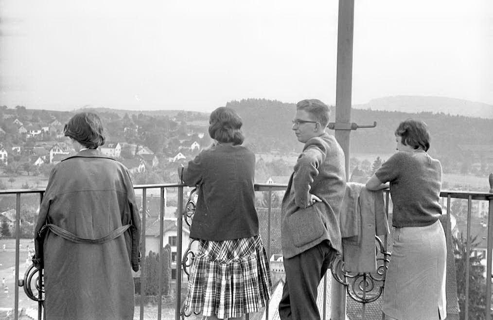 Herbst 1960 04 auf dem Turm