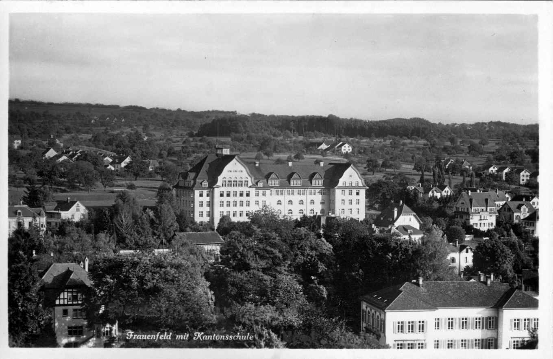 Kantonsschule von der Stadt her um 1930