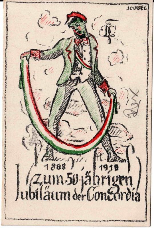 Karte Concordia Jubiläum 1918